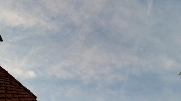 071 Chemtrail Himmel über Enzberg 31.05.16 um 21.05 Uhr