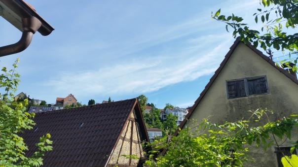 012 Himmel über Enzberg Chemtrails am 27.06.16
