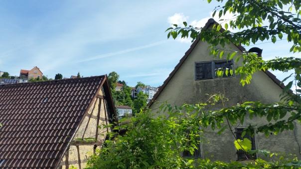017 Himmel über Enzberg Chemtrails am 27.06.16 10.23 Uhr