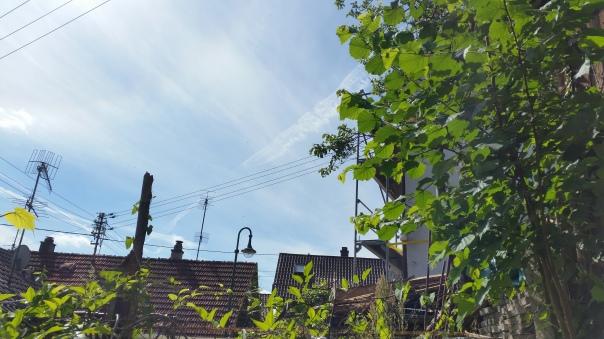 018 Himmel über Enzberg Chemtrails am 27.06.16 10.23 Uhr
